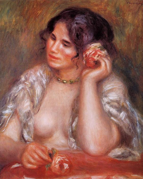 famous painting Gabrielle with a Rose of Pierre-Auguste Renoir