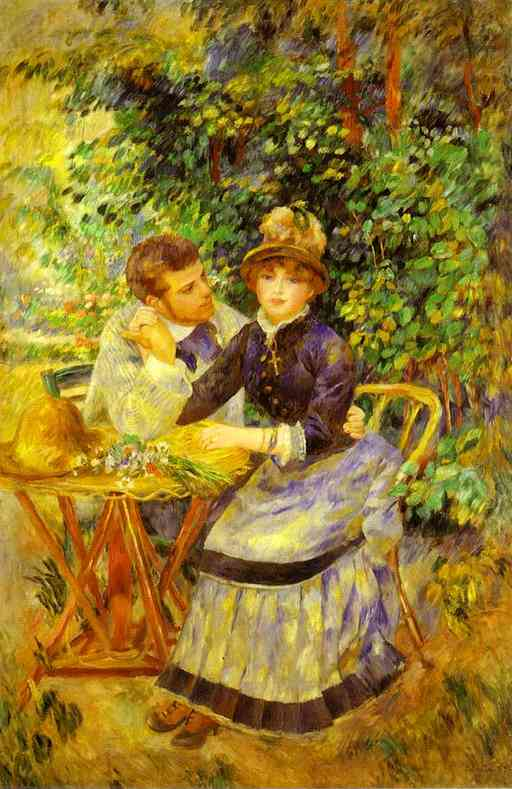 famous painting In the Garden. (Dans le jardin) of Pierre-Auguste Renoir