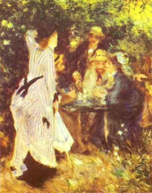 famous painting In the Garden of Pierre-Auguste Renoir