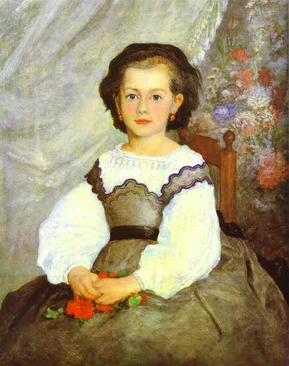 famous painting Little Miss Romaine Lacaux of Pierre-Auguste Renoir