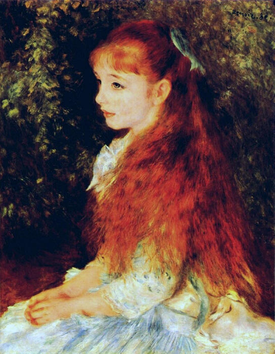 Order Reproductions Impressionism | Mlle Irene Cahen d'Anvers by Pierre-Auguste Renoir | TopImpressionists.com