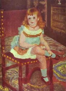 Pierre-Auguste Renoir - Portrait of Georgette Charpentier on a Chair