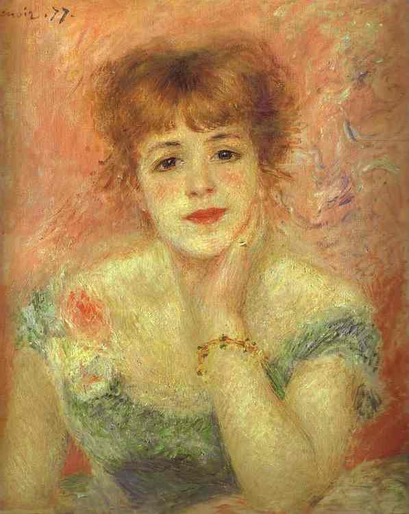 famous painting Portrait of the Actress Jeanne Samary of Pierre-Auguste Renoir