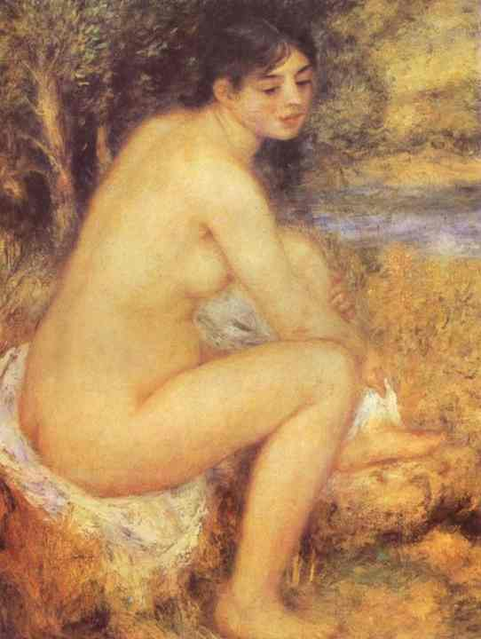 famous painting Seating Girl of Pierre-Auguste Renoir