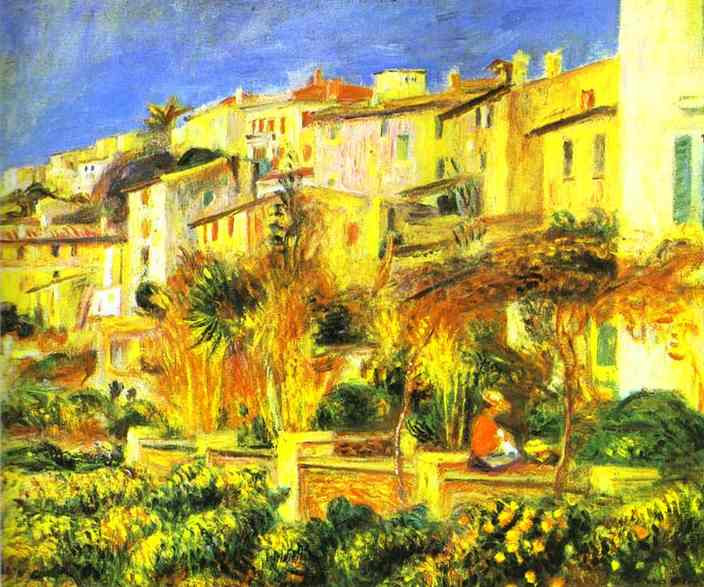 famous painting Terrace at Cagnes of Pierre-Auguste Renoir
