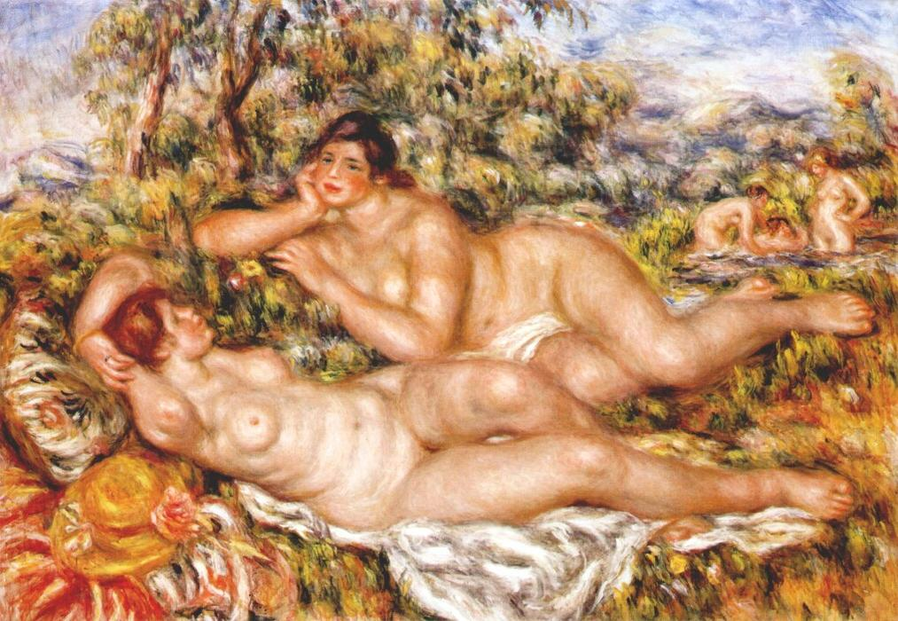 famous painting The Great Bathers (The Nymphs) of Pierre-Auguste Renoir