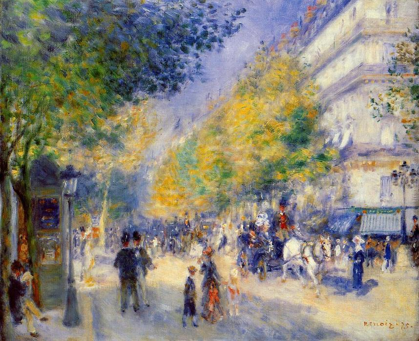 famous painting The Great Boulevards of Pierre-Auguste Renoir