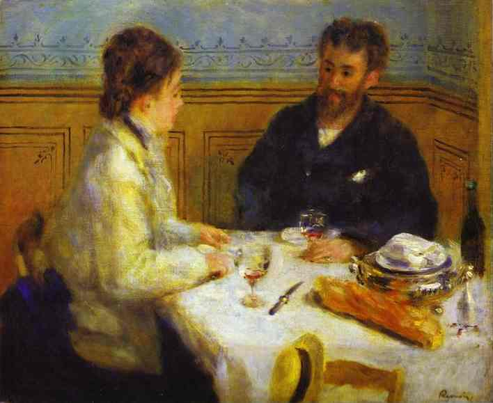 Order Paintings Reproductions Impressionism | The Lunch by Pierre-Auguste Renoir | TopImpressionists.com