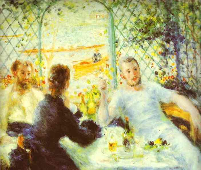 famous painting The Luncheon of the Boating Party of Pierre-Auguste Renoir