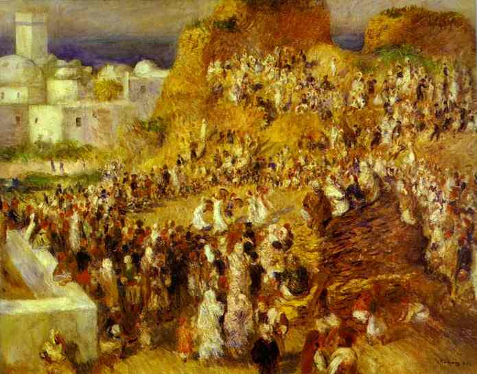 famous painting The Mosque (Arab Holiday) of Pierre-Auguste Renoir
