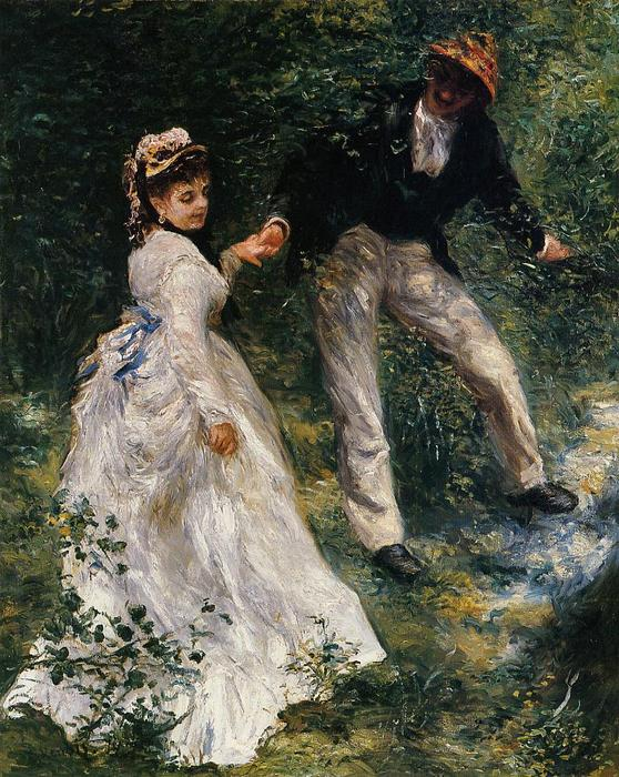 famous painting The Promenade of Pierre-Auguste Renoir