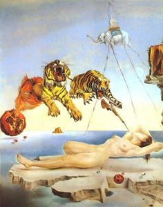 Salvador Dali - One Second Before Awakening from a Dream Caused by the Flight of a Bee Around a Pomegranate, 1944