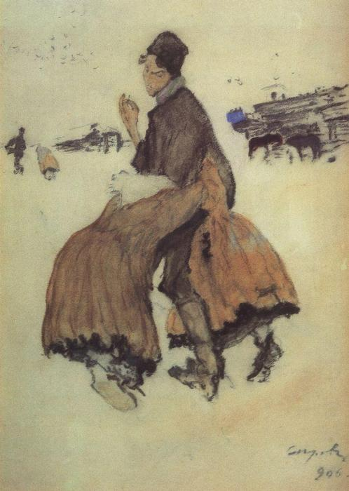 famous painting A Recruit of Valentin Alexandrovich Serov