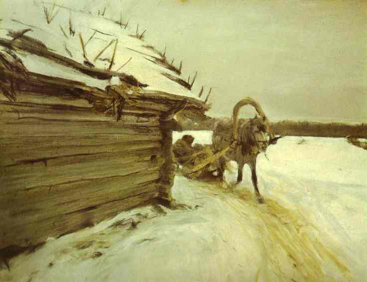 famous painting In Winter of Valentin Alexandrovich Serov