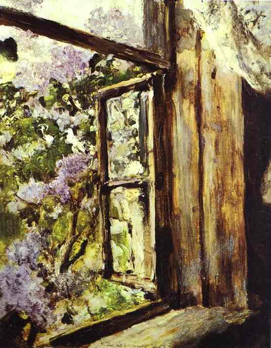 famous painting Open Window. Lilacs. Study of Valentin Alexandrovich Serov