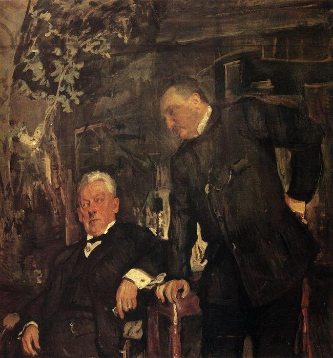 famous painting Portrait of Alexander Lensky and Alexander Yuzhin of Valentin Alexandrovich Serov