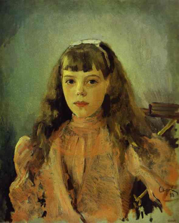 famous painting Portrait of Grand Duchess Olga Alexandrovna of Valentin Alexandrovich Serov