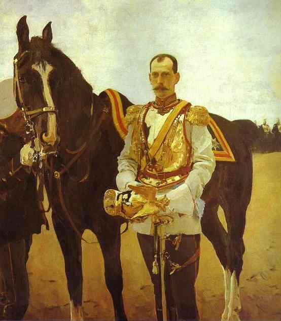 famous painting Portrait of Grand Duke Pavel Alexandrovich of Valentin Alexandrovich Serov