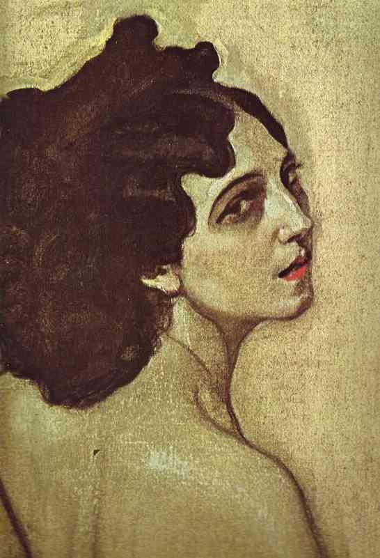 famous painting Portrait of Ida Rubenstein. Detail of Valentin Alexandrovich Serov