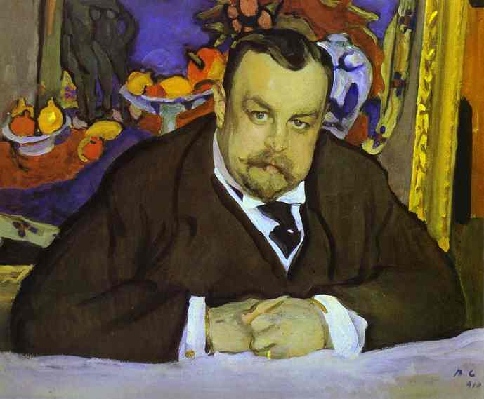 famous painting Portrait of Ivan Morozov of Valentin Alexandrovich Serov