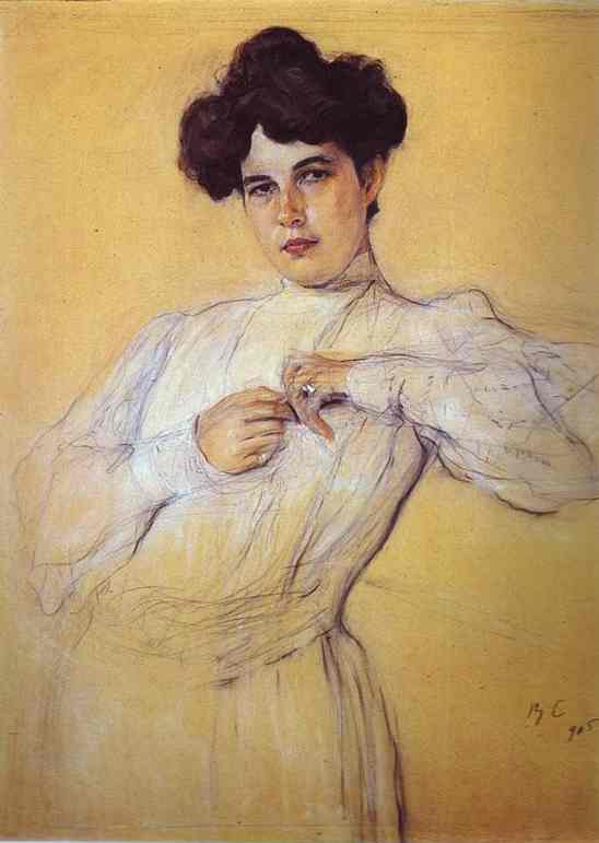 famous painting Portrait of Maria Botkina of Valentin Alexandrovich Serov