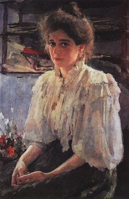 famous painting Portrait of Maria Lvova of Valentin Alexandrovich Serov