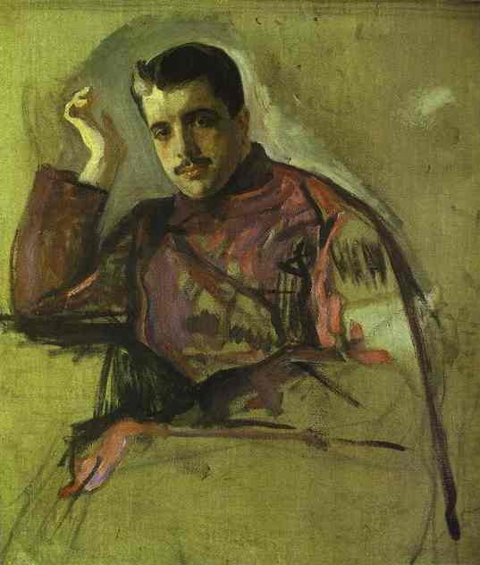 famous painting Portrait of Sergei (Serge) Diaghilev of Valentin Alexandrovich Serov