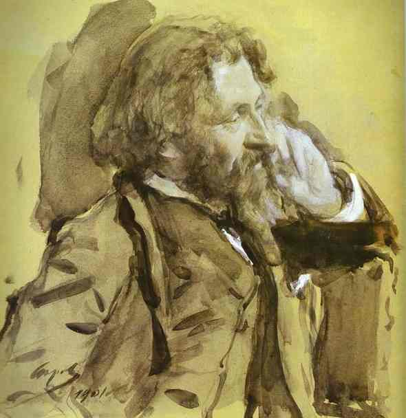 famous painting Portrait of the Artist Ilya Repin of Valentin Alexandrovich Serov