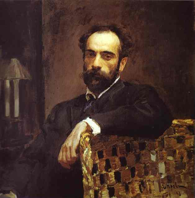 famous painting Portrait of the Artist Isaac Levitan of Valentin Alexandrovich Serov