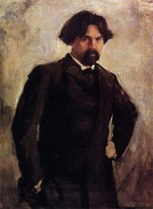 Valentin Alexandrovich Serov - Portrait of the Artist Vasily Surikov