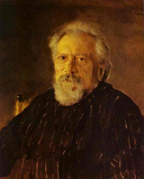 famous painting Portrait of the Author Nikolay Leskov of Valentin Alexandrovich Serov
