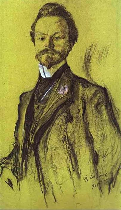 famous painting Portrait of the Poet Konstantin Balmont of Valentin Alexandrovich Serov