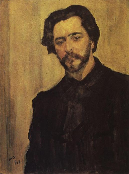 famous painting Portrait of the Writer Leonid Andreev of Valentin Alexandrovich Serov
