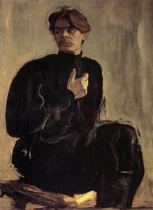 Valentin Alexandrovich Serov - Portrait of the Writer Maxim Gorky