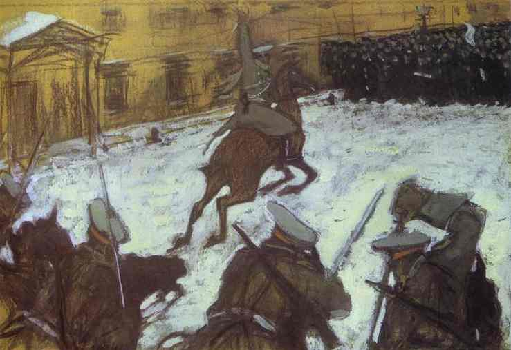 famous painting Soldiers, Soldiers, Heroes Every One.. of Valentin Alexandrovich Serov