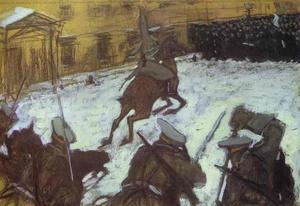 Valentin Alexandrovich Serov - Soldiers, Soldiers, Heroes Every One..