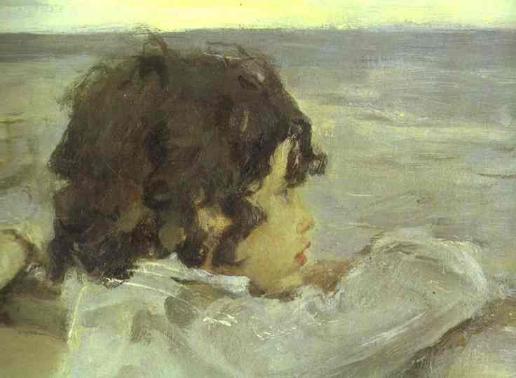 famous painting The Children. (Yura Serov) Detail of Valentin Alexandrovich Serov