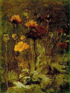 Vincent Van Gogh - Still Life with Scabiosa and Ranunculus