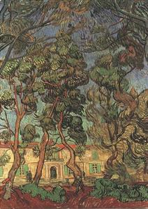 Vincent Van Gogh - Trees in the Garden of Saint-Paul Hospital