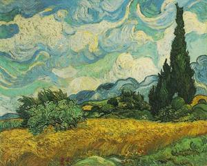 Vincent Van Gogh - Wheat Field with Cypresses at the Haute Galline Near Eygalieres