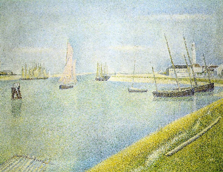 famous painting The channel at Gravelines, in the direction of the sea of Georges Pierre Seurat