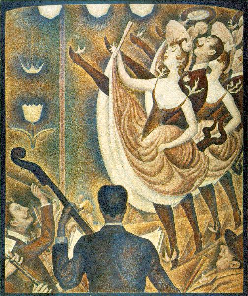 famous painting Chahut, 1889-1890 of Georges Pierre Seurat