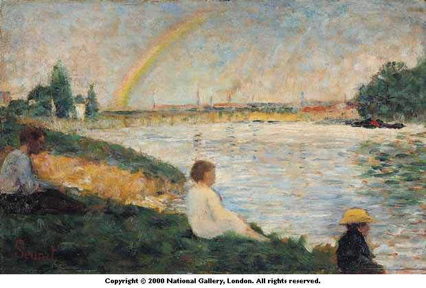 famous painting El arcoiris, 1883 of Georges Pierre Seurat