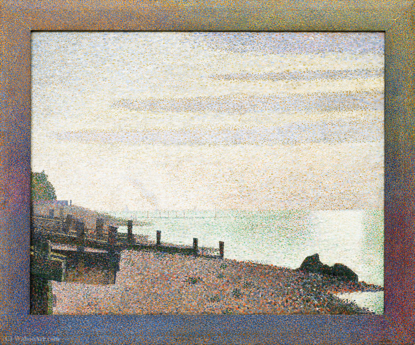famous painting Evening, Honfleur, 1886 of Georges Pierre Seurat