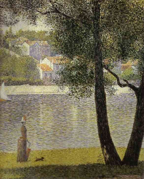 famous painting La Seine a Courbevoie of Georges Pierre Seurat
