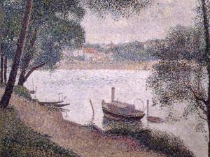 Georges Pierre Seurat - Landscape with a Boat