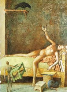 Balthus (Balthasar Klossowski) - Great composition in Raven