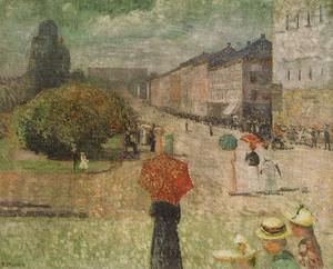 Edvard Munch - Spring day street Karl Johan in Oslo