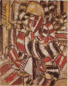 Fernand Leger - The woman in red and green