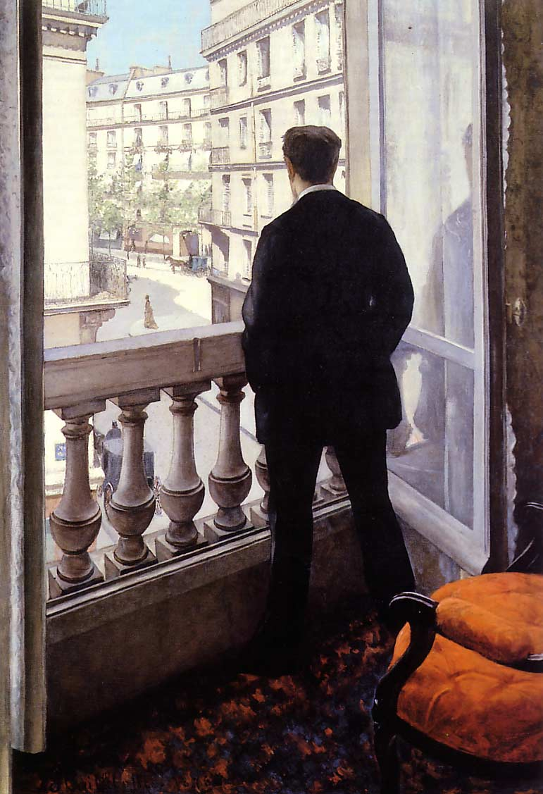famous painting A Young Man at His Window of Gustave Caillebotte